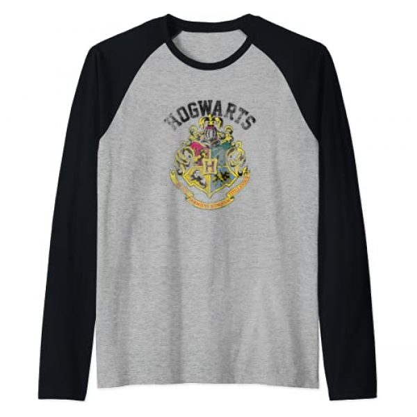 Wizarding World Graphic Tshirt 1 Harry Potter Hogwarts Crest Raglan Baseball Tee