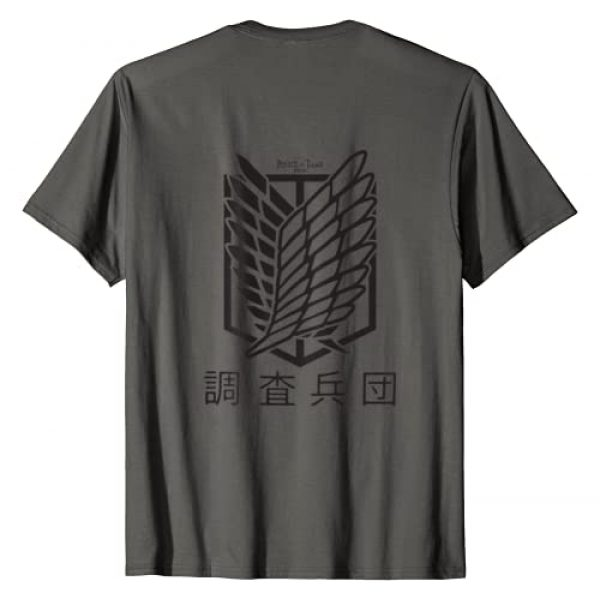 Attack on Titan Season 3 Graphic Tshirt 2 One Color Scout Kanji T-Shirt