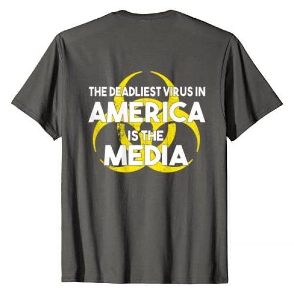 The Deadliest Virus in America is the Media Retro Graphic Tshirt 1 The Deadliest Virus in America is the Media T-shirt Vintage T-Shirt