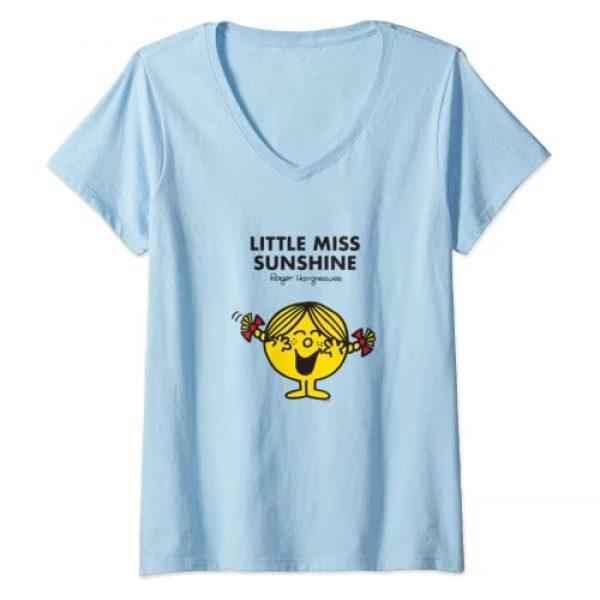 Mr. Men Little Miss Graphic Tshirt 1 Womens Mr. Men Little Miss Sunshine V-Neck T-Shirt