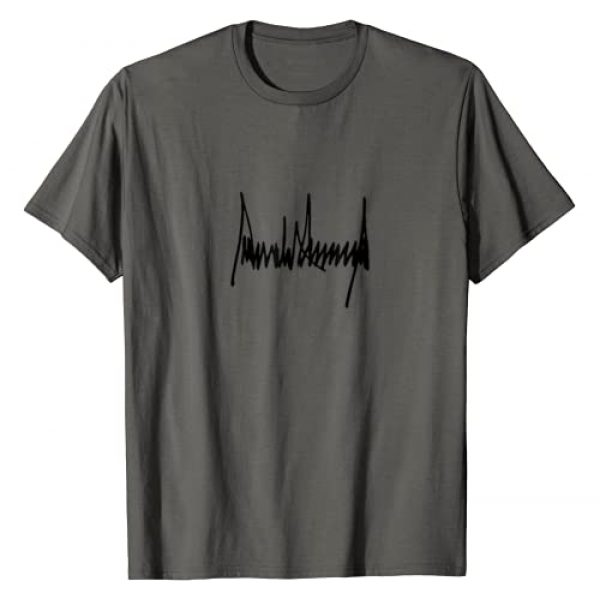 Tronic Tees Graphic Tshirt 1 President Donald J Trump Signature T-Shirt