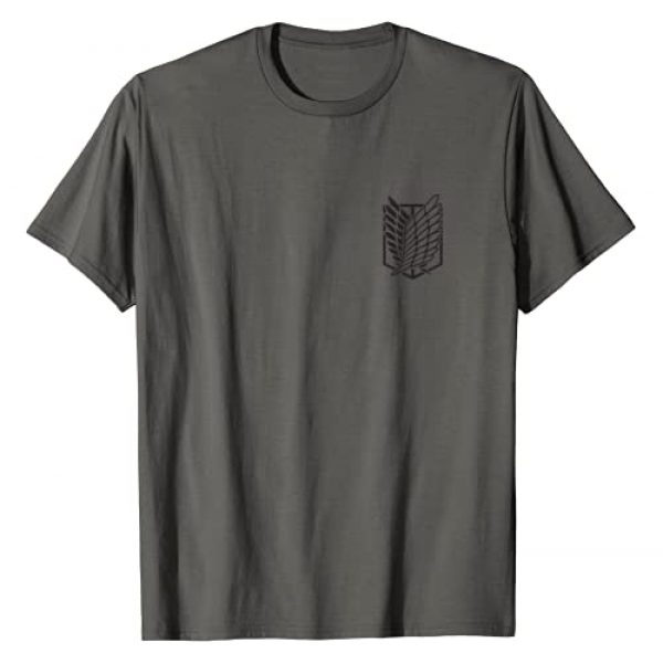Attack on Titan Season 3 Graphic Tshirt 1 One Color Scout Kanji T-Shirt