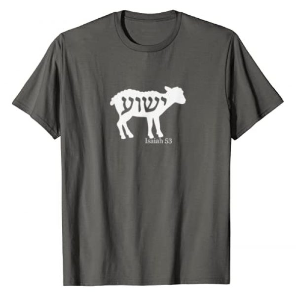 Isaiah 53 Tees Graphic Tshirt 1 Isaiah 53 Lamb Yeshua Jesus T-Shirt