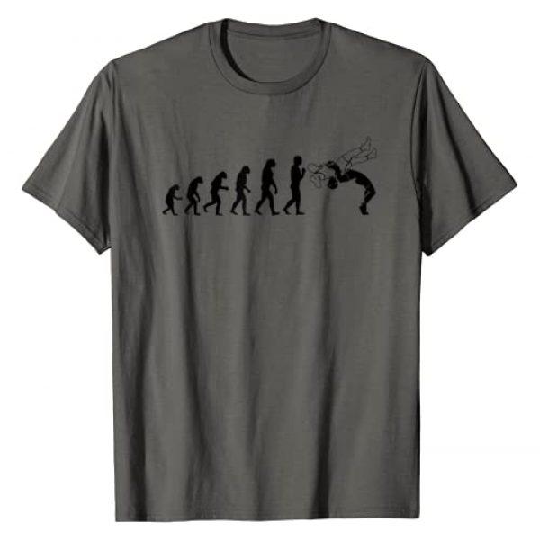 Cute Adult Children Fighting Workout Humor Designs Graphic Tshirt 1 Cool Wrestling Evolution | Funny Gym Wrestler Sport Fan Gift T-Shirt