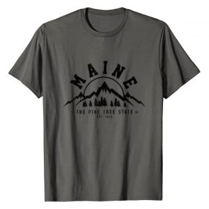 Maine - The Pine Tree State Souvenirs & Gifts Graphic Tshirt 1 Maine - The Pine Tree State Est. 1820 Vintage Mountains Gift T-Shirt