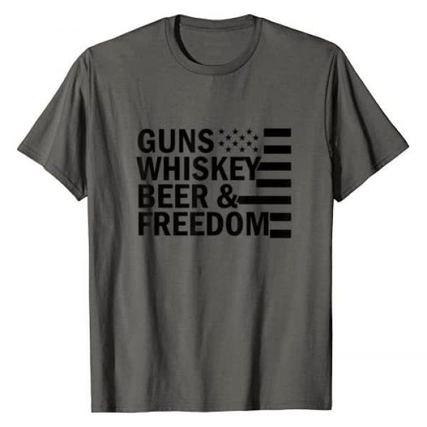Guns Whiskey Freedom America USA Gift Graphic Tshirt 1 Guns Whiskey and Freedom funny USA America American gift T-Shirt