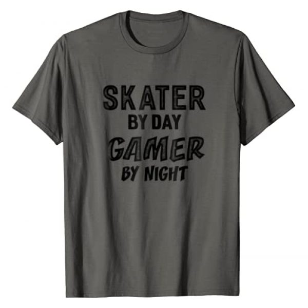 Outdoor Activity Tee Shirts Graphic Tshirt 1 Skater By Day Gamer By Night T-shirt Men Women Gifts
