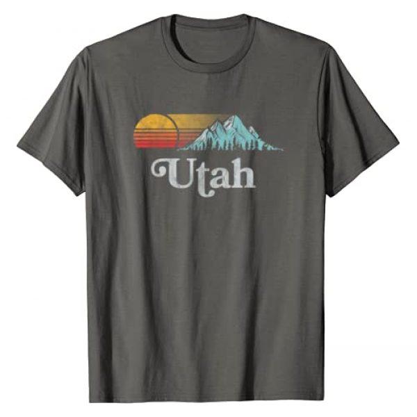 Mountain Life Outdoor Junkie Tees Graphic Tshirt 1 Utah Vintage Mountain Sunset Eighties Retro Graphic T-Shirt