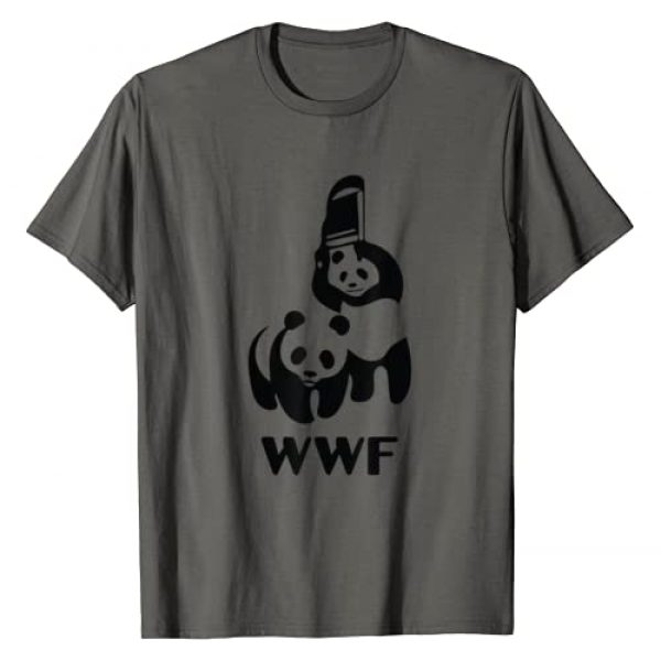 Funny Tops and Tees Graphic Tshirt 1 Wrestling Pandas Funny T-Shirt