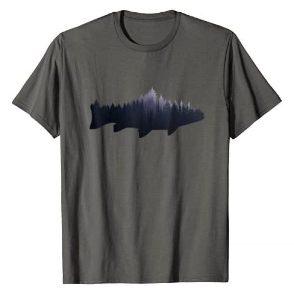 Trout Fishing Shirts & Gifts Graphic Tshirt 1 Trout T-Shirt - Fly Fishing Nature Outdoor Fisherman Gift T-Shirt