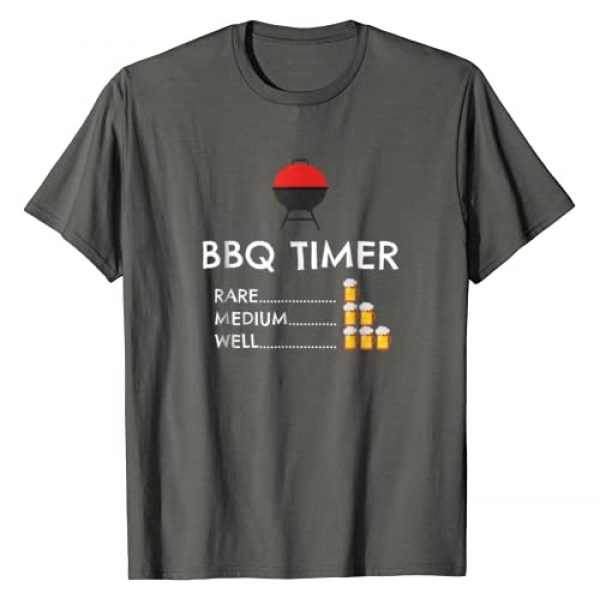 Barbecue & Beer Grilling BBQ Shirts for Men Graphic Tshirt 1 BBQ Timer Barbecue Shirt Funny Grill Grilling Gift