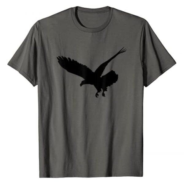 American Eagle Shirts Apparel Graphic Tshirt 1 Beautiful Black Flying Eagle Bird Silhouette T-Shirt