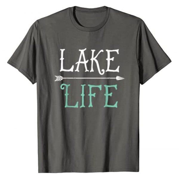 Lique Outdoor Graphic Tshirt 1 Lake Life T shirt Fishing Boating Sailing Funny Outdoor Tee