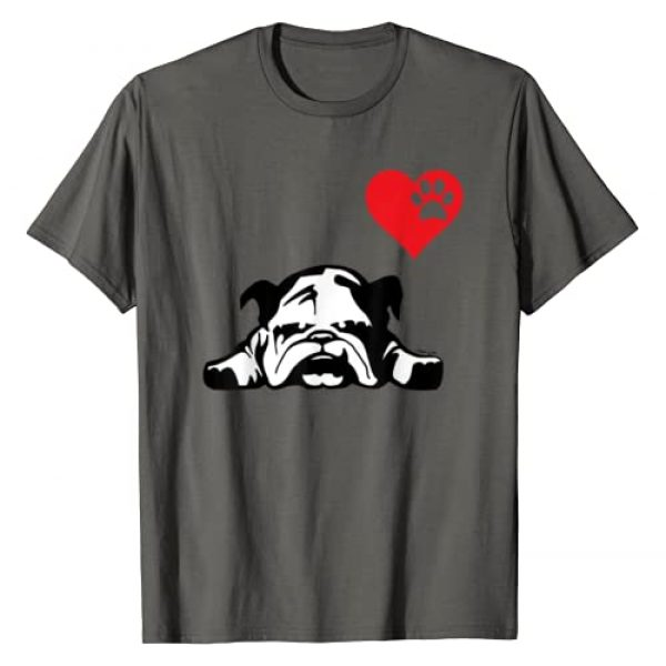 English Bulldog shirts by artbyjfg tees Graphic Tshirt 1 English Bulldog TShirt I LOVE MY ENGLISH BULLDOG DOG T-Shirt