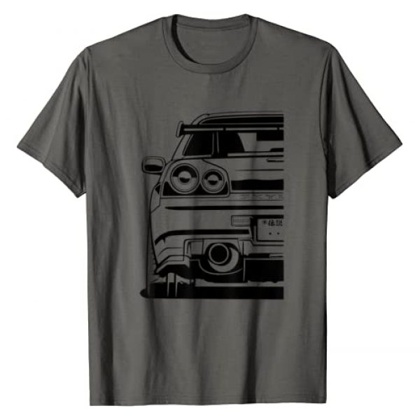Automotive Apparel 1 Graphic Tshirt 1 Skyline 34 JDM Rising Sun Tuning Car T-Shirt Japan Retro