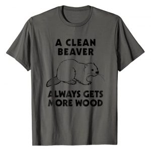 Funny Novelty Tees Graphic Tshirt 1 Dirty Funny Adult T Shirt Clean Beaver Wood Shirt