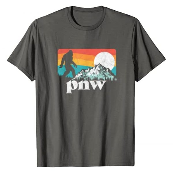 Bigfoot UFO Believer 2001 Tees Graphic Tshirt 1 PNW - Pacific Northwest Bigfoot Mountains Retro 80s Graphic T-Shirt