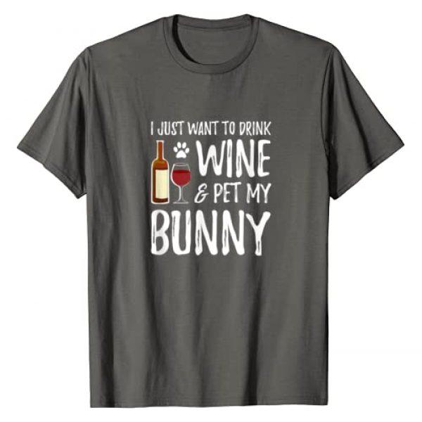 Bunny Wine Drinker Tees Graphic Tshirt 1 Bunny Lover Wine T-Shirt Funny Bunny Mom Gift Idea T-Shirt
