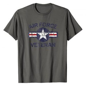 Great Military Veterans T-Shirts Graphic Tshirt 1 Air Force Veteran with Vintage Roundel Grunge T-Shirt
