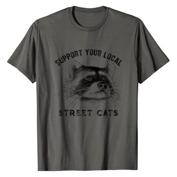 MMN Funny Raccoon Trash panda Shirt Co Graphic Tshirt 1 Support Your Local Street Cats shirt Raccoon Lover Gift tee