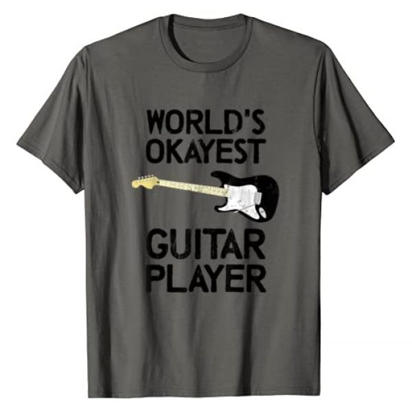 Okay Guitarist Tees Graphic Tshirt 1 World's Most Okayest Guitarist Funny Music Guitar Player Axe T-Shirt