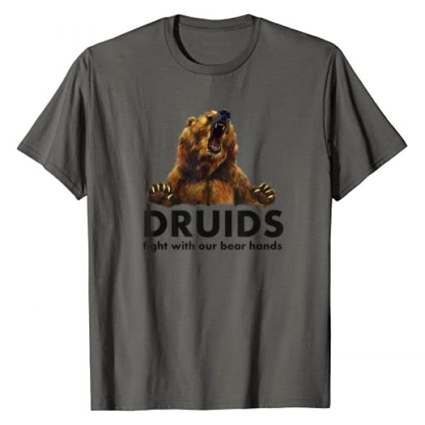 Tattypoo Tees Graphic Tshirt 1 Druids fight with our bear hands Fantasy RPG T-Shirt
