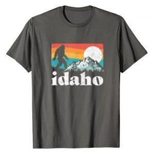 Bigfoot UFO Believer 2001 Tees Graphic Tshirt 1 Idaho Bigfoot & Retro Mountains T-Shirt