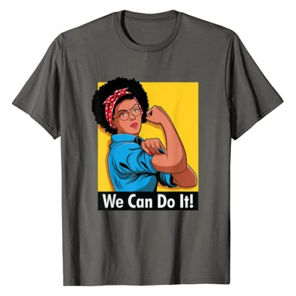 Retro Rosie The Riveter Afro Tshirt Graphic Tshirt 1 Rosie The Riveter We Can Do It Afro American African Gift T-Shirt