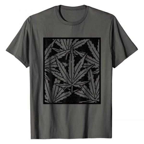 Stoner Gifts LTD Graphic Tshirt 1 Leaf Pattern High 420 Gift Smoking Weed Cannabis Marijuana T-Shirt
