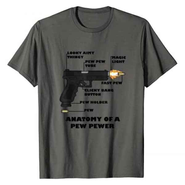 MilesBetterProducts Graphic Tshirt 1 Anatomy of a Pew Pewer Ammo and Gun Amendment Meme Lovers T-Shirt