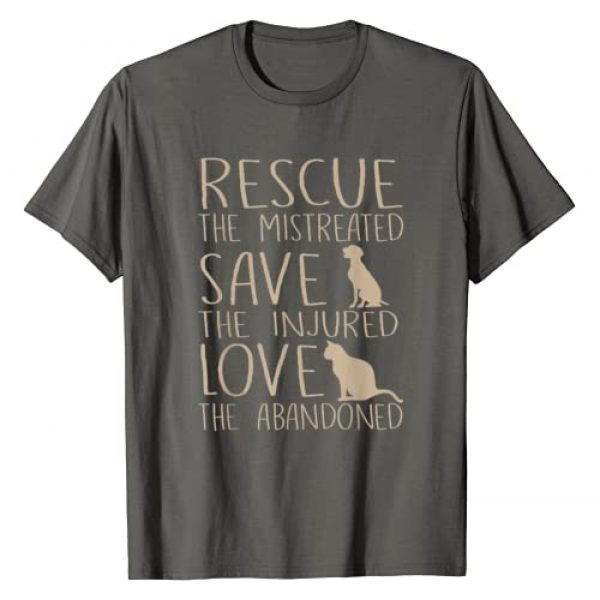 Gentle Paws Apparel Graphic Tshirt 1 Rescue Save Love - Cute Animal Rescue Dog Cat Lovers T-Shirt