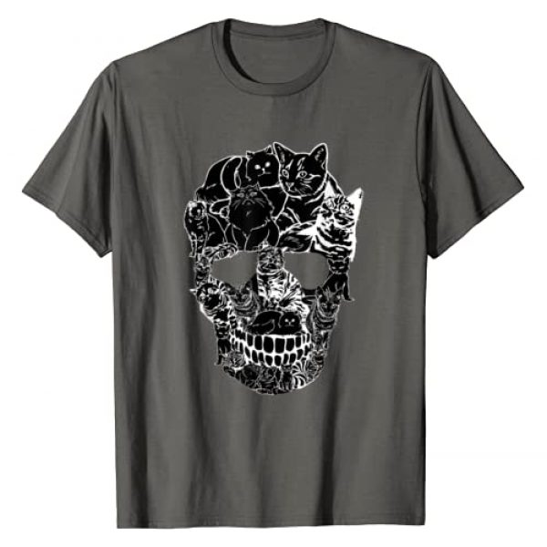 Cat Graphic Tshirt 1 Skull Shirt - Kitty Skeleton Halloween Costume Skull Cat T-Shirt