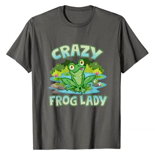 Crazy Frog Lady Gift Tees! Graphic Tshirt 1 Crazy Frog Lady Lover Gift T-Shirt
