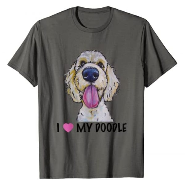 Hippie Hound Studios featuring art by Lee Keller Graphic Tshirt 1 I Love My Doodle Shirt, Golden Doodle T-Shirt