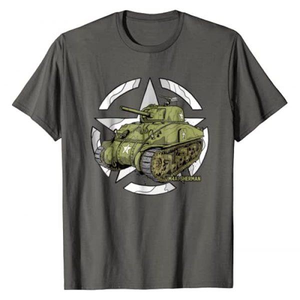 Vae Victis Graphic Tshirt 1 Sherman M4A1 WWII Army Tank History Vintage T-shirt