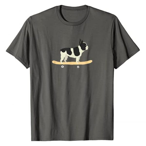 Funny Skateboarding Dog Puppy Co. Graphic Tshirt 1 Funny Skateboarding French Bulldog Puppy Gift T-Shirt