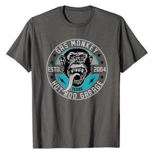 Gas Monkey Garage Graphic Tshirt 1 Established 2004 Line Art Badge T-Shirt