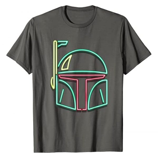 STAR WARS Graphic Tshirt 1 Boba Fett Neon Light Helmet Graphic T-Shirt