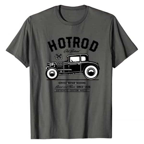 Hot Rod Gifts Shirts MV&SG Graphic Tshirt 1 Vintage Hot Rod Old School Speed and Power Shirt for Men T-Shirt