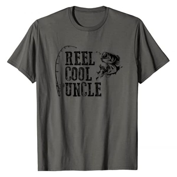 uncle gifts Graphic Tshirt 1 Uncle Fishing: Reel Cool Uncle Funny Gift T-Shirt