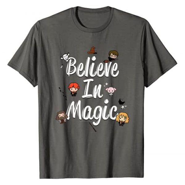 Harry Potter Graphic Tshirt 1 Believe In Magic Cute Cartoon Text T-Shirt