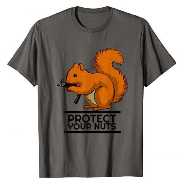Mrpotts73 Hunting Enthusiast Graphic Tshirt 1 Protect You Nuts Gun Nut Gifts Squirrel T-Shirt