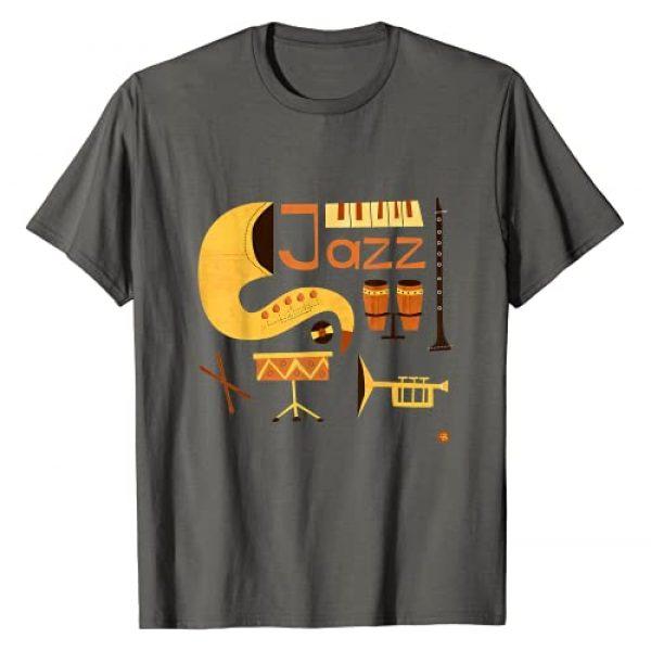 Retro Jazz Music Design Graphic Tshirt 1 Vintage Jazz Music T-Shirt
