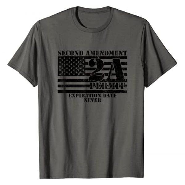 2nd Amendment Shirt for Men Women Military Gift Graphic Tshirt 1 2nd Amendment Flag Shirt - 2A - Second Amendment Permit T-Shirt