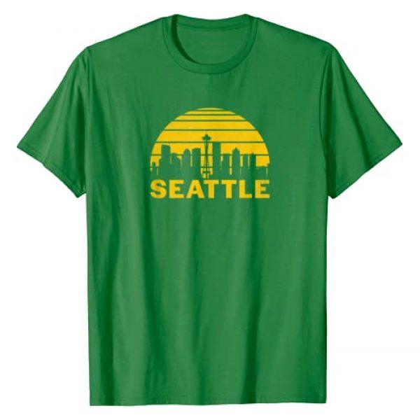 Tout Wear Seattle Graphic Tshirt 1 Vintage Seattle Washington Cityscape Retro T-Shirt