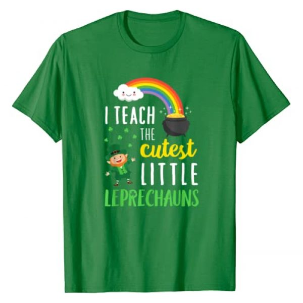 St Patricks Day Teacher T-Shirt Men Women Gift Graphic Tshirt 1 I Teach The Cutest Little Leprechauns T Shirt School Cute T-Shirt
