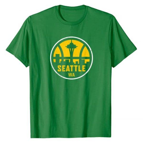 SeattleBasketball&Co. Graphic Tshirt 1 Vintage Seattle Washington Basketball Cityscape Retro Gift T-Shirt