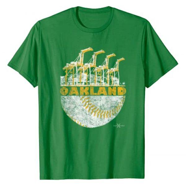 Seamheaded Apparel Graphic Tshirt 1 Vintage Oakland Baseball Port Crane Skyline T-Shirt T-Shirt