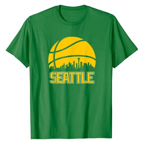 Seattle GoTime Apparel Graphic Tshirt 1 Retro Seattle Basketball Fan City Skyline Gift T-Shirt