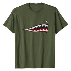 Designed For Flight Graphic Tshirt 1 Shark Teeth P-40 Warhawk Nose Art WWII WW2 Airplane Vintage T-Shirt